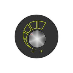 Volume control icon, vector illustration