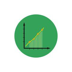 Infographics icon, chart icon, vector illustration