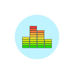 Indicator icon, diagram icon, vector illustration