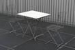 canvas print picture - Tisch mit Stühlen