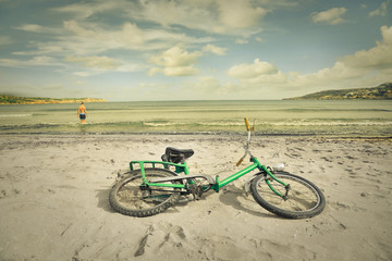 Abandoned bike at the beach