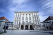 Leinwanddruck Bild - Schloß Nymphenburg in München, Langzeitbelichtung