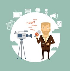 journalist said on camera illustration