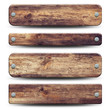 Leinwandbild Motiv 4 plaques en bois rustique
