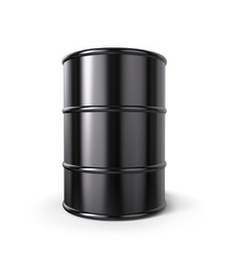 Oil Drum Isolated on white.