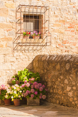 Details of Tuscan towns highly vintage