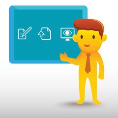Yellow businessman presentation