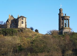 A view of Calton Hill, Edinburgh, Scotland