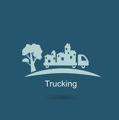 trucking houses icon