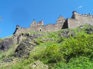 The west side of Edinburgh Castle, Scotland.