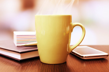 Cup of tea in office