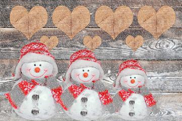 weihnachten mit schneemann