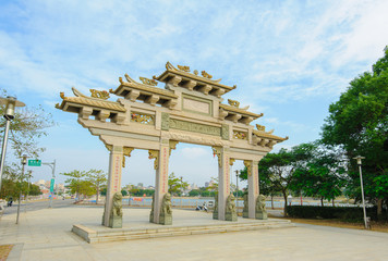 Front gate of a temple in Kinmen, Taiwan
