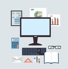 Desktop Accounting illustration
