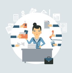 accountant all needed in the workplace illustration