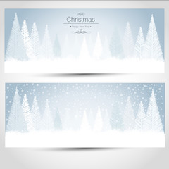 Christmas Cards Snow Landscape
