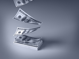 dollars falling down