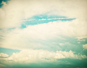 Clouds in blue sky.