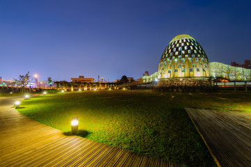 night view of park in chiayi