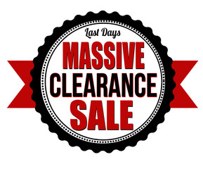 Massive clearance sale badge