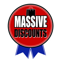 Massive discounts sale badge