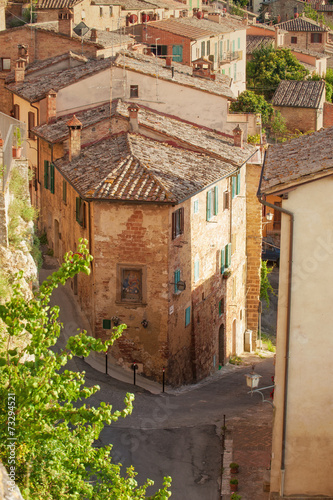 Old streets in the Tuscan town of Montepulciano, Italy © gentelmenit
