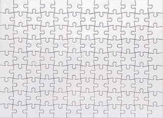 White Jigsaw Top view
