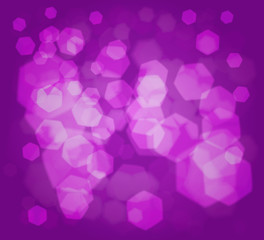 Lilac background with hexagonal shape