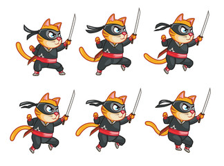 Cat Ninja Jumping Sprite