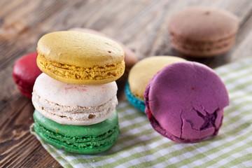 Colourful french macaron.