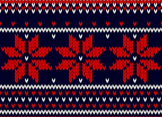 christmas card, scandinavian style seamless knitted pattern