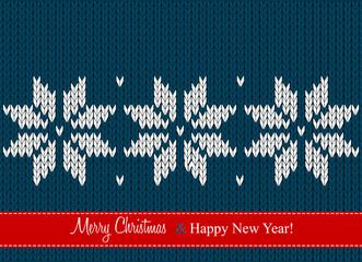 christmas card, scandinavian style seamless knitted pattern