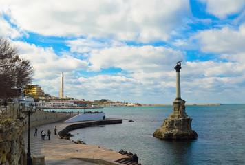 памятник затопленным кораблям(Севастополь)