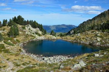 Mountain lake in the Hautes Pyrenees