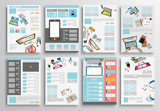 Fototapety Set of Flyer Design, Web Templates. Brochure Designs