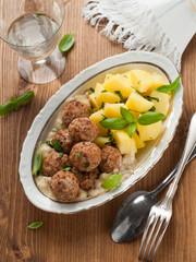 Meatballs with potato