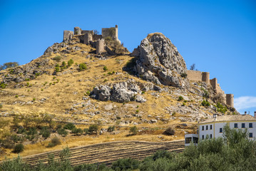 Ruins of a castle at  Moclin, Granada, Andalusia, Spain
