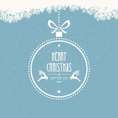 christmas ball merry christmas snowflakes background
