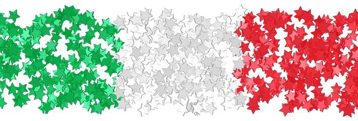 Sternenfeld in den Farben der italienischen Flagge