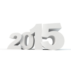 2015 New Year concept 3D digits isolated on white background