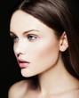 beauty portrait of  sensul model with nude makeup