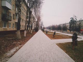Пришла зима в город