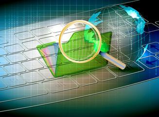 Scanned folder safety,technology background