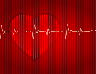 Medical-card-red-heart-background-effect-dented