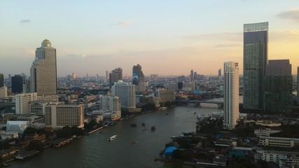 Building in Bangkok city Thailand