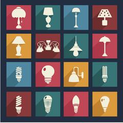 Home interior electricity equipment flat  - Illustration