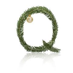 Christmas Letter Q