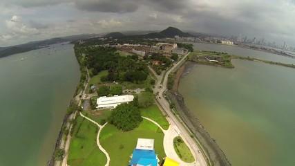 Aerial View of Amador Causeway, Panama.