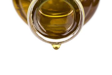 Oil drop on a bottle.