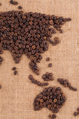 handmade coffee map